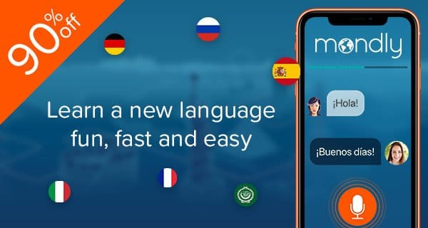 Mondly Spanish language learning app promo